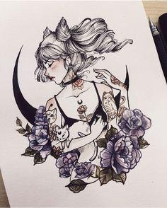 Drawing tattooed girls is addictive :>
