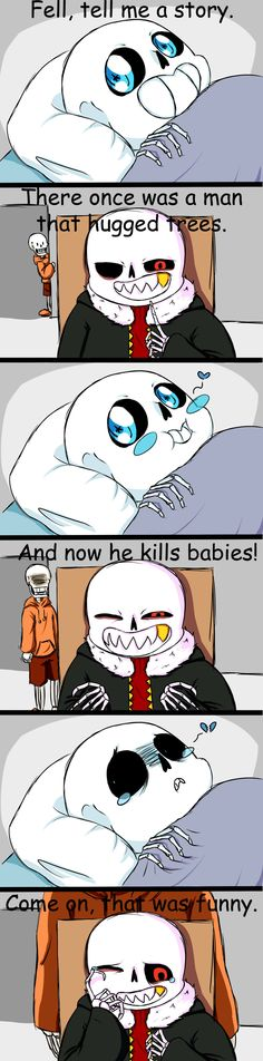 Unwanted guest XD and as for UF Sans and US Sans....sub text. Thats up to u XD Part 2: