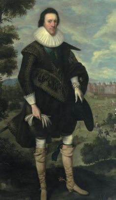William Cecil, 2nd Earl of Salisbury. Royalist. Portrait by George Geldorp