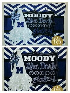 Check out this item in my Etsy shop https://www.etsy.com/listing/233677108/personalized-matching-cheer-blanket-and
