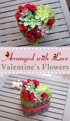 A modern arrangement that will steal anyone's heart on Valentine's Day.