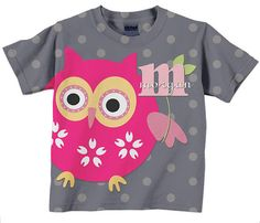 Owl Toddler Tee T Shirt Personalized Polka by SimplySublimeBaby, $24.95