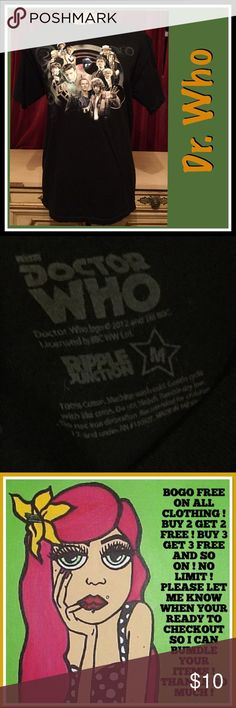 BOGO FREE DR WHO TEE BOGO FREE DR. WHO TEE -  BOGO FREE ON ALL CLOTHING ! Just add your listings to a bundle and I will make you a bundle with the free items ! Tops
