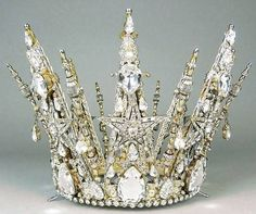 The Crystal Ice Queen Crown, made by jeweller Count Alexander von Beregshasy.