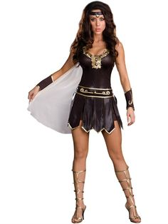 babe a lonian warrior adult costume available at teezerscostumescom - Britney Spears Red Jumpsuit Halloween Costume