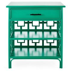 Check out this item at One Kings Lane! Sobe Nightstand, Emerald