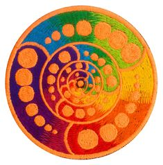Someone once said that this crop circle shows a free energy machine plan or free energy by itself. size: diameter inch for sew on flexible blacklight glowing machine washable Alien Art, Crop Circles, Machine Design, Orange, Psychedelic, Mandala, Patches, Colours, Consciousness