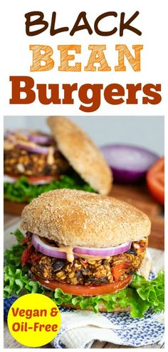 This Best Black Bean Burger vegan recipe gets some of the highest reviews on this website. People love that the patties are firm and can even be cooked on the grill without falling through. #blackbeanburger #veganburger #nooil Whole Food Recipes, Diet Recipes, Vegetarian Recipes, Healthy Recipes, Potato Chip Maker, Vegan Bean Burger, Beste Burger, Black Bean Burgers, Vegan Grilling