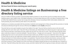 Health & Medicine listings on Businessnap a free directory listing service