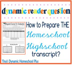 How To Prepare THE Homeschool High School Transcript #homeschool #highschooltranscripts #ihsnet