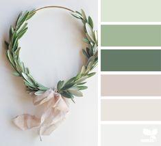 Design Seeds + Color Atlas by Archroma® Green Color Schemes, Green Colour Palette, House Color Schemes, Bedroom Color Schemes, House Colors, Green Colors, Color Combinations, Interior Colour Schemes, Neutral Palette