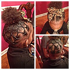 """Rope Twists into a """"Puff Ball"""" //Natural Hairstyles for Toddlers"""