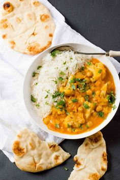 This Chickpea and Cauliflower Curry is packed with exotic flavor, but only takes about 20 minutes to come together from start to finish thanks to using curry paste.                                                                                                                                                     More
