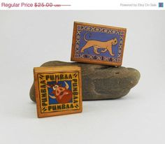 Vintage Lion King Rubber Stamps Pumbaa and Nala #RubberStampede $5.99