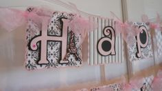Paris Happy Birthday and Name Banner with age by ASweetCelebration