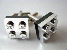 LEGO silver cufflinks