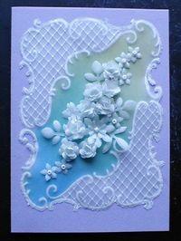 Pergamano, Dentelles de papiers, Parchment craft, fleurs, flowers, bleu, blue. https://www.avecpassion.fr/29-pergamano-parchment-craft-dentelle-papier-parchemin