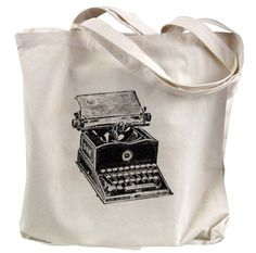 Items similar to Canvas Tote Bag - Vintage Typewriter Print on Natural Canvas Bag on Etsy Printed Tote Bags, Canvas Tote Bags, Plastic Grocery Bags, Vintage Typewriters, Geek Chic, Etsy Handmade, Purses And Bags, Reusable Tote Bags, Trending Outfits