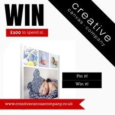 Win £100 to spend on a canvas of your choice from Creative Canvas!