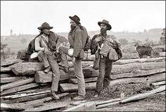 Three Confederate Prisoners with Cat, Gettysburg