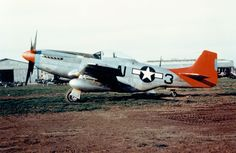 During the war, the Tuskegee airmen painted their planes with nose art and nicknames. To honor the airmen, all planes in the 332nd segregated fighter squadron had a color scheme. The P51C Mustang shown in the image was the distinctive aircraft of the airmen.
