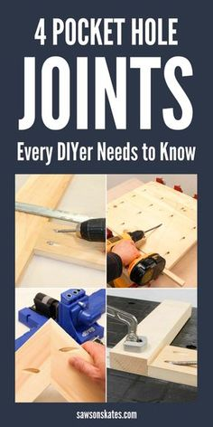 Common Pocket Hole Joints Every DIYer Should Know - Woodworking Diy Woodworking For Kids, Woodworking Joints, Woodworking Classes, Popular Woodworking, Woodworking Techniques, Woodworking Furniture, Woodworking Shop, Woodworking Crafts, Woodworking Plans