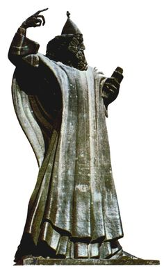 Grgur Ninski (Gregory of Nin) by Ivan Mestrovic. This statue is in Split. I saw it there.