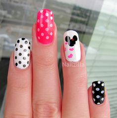 Minnie+Mouse+Nail+Art | NailZilla: Minnie Mouse nail art