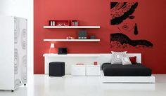 Wall Vinyl Sticker Room Decal Mural Design Hair Style Salon Woman Beauty bo1453 #Oracal #Modern