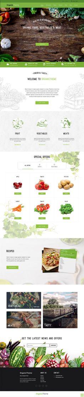 Organic Farm & Food Business WordPress Theme