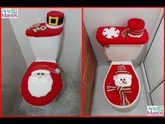 How to make Bath Sets for Christmas, Santa Claus and Snowman Things To Do At Home, Christmas Games, Elf On The Shelf, Snowman, Santa, Holiday Decor, How To Make, Diy, Bathroom Accessories