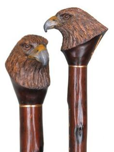 Custom Hand carved wood walking staffs, carved wood hiking staffs, carved…