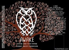 mybeerbuzz.com - Bringing Good Beers & Good People Together...: Night Shift - Awake Porter Aged With Coffee 16oz C...