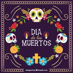 Set day of the dead celebration with skeleton and catrina banner Sugar Skull Tattoos, Sugar Skull Art, Halloween Facts, Happy Halloween, Mexican Restaurant Decor, Day Of Death, Day Of The Dead Artwork, Cigar Box Crafts, Holiday Day