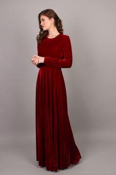 558ef6e360f Buy Velvet Christmas dress on Livemaster online shop Hoco Dresses