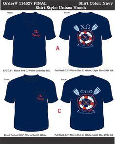 Chi Omega ~Sirens & Sailors~  www.greekt-shirtsthatrock.com