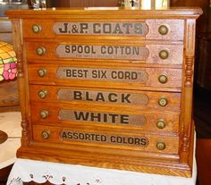 I've always wanted an antique spool cabinet -- I love anything with drawers and doors