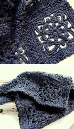 [Free Crochet Pattern] Beautiful lacy square that you can crochet into an afghan