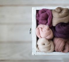 Wool roving assortment  Wool supplies Mixed 6 pastel colors Pastel Colors, Light Colors, Needle Felting Supplies, Arm Knitting, Nuno Felting, Fibres, Light Beige, Dusty Rose, Craft Gifts