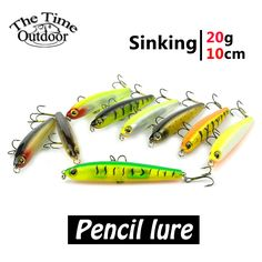 Aliexpress.com : Buy 1 pcs multi color pencil fishing lure hard plastic fishing bait sinking minnow lure with very sharp hook from Reliable pencil selling suppliers on Enjoy Outside