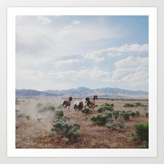 Running Horses Art Print by Kevin Russ