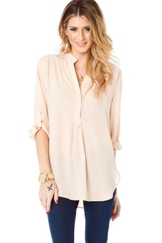 ShopSosie Style : Pure Colora Blouse in Beige
