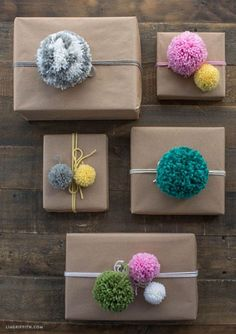 These handmade pompoms