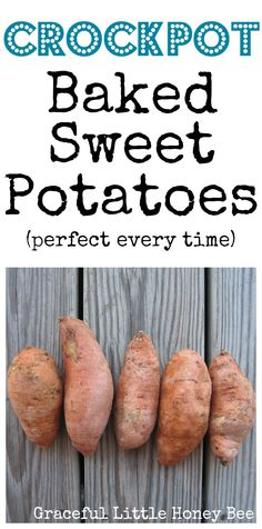 These crockpot sweet potatoes cook perfectly every time! They're also delicious and super healthy!