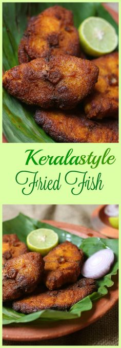 Kerala style fried fish.This Spicy and delicious  fish fry is an important item in the south Indian non vegetarian meals.
