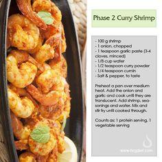 Phase 2 Curry Shrimp - HCG Diet Blog: