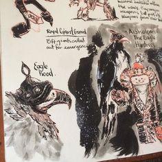 Sketchbooking  #drawing #draw #art #aisholpan #eagle #huntress #pentel #jinhaox750