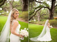 Real Bride Mary Ashley in a stunning Amsale gown! Look at that beading in the back!