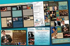 Brochure design and Ad layouts for Collingwood Music Festival