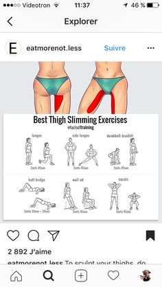 Best thigh slimming exercises.